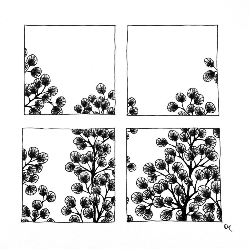 Carré floral 1