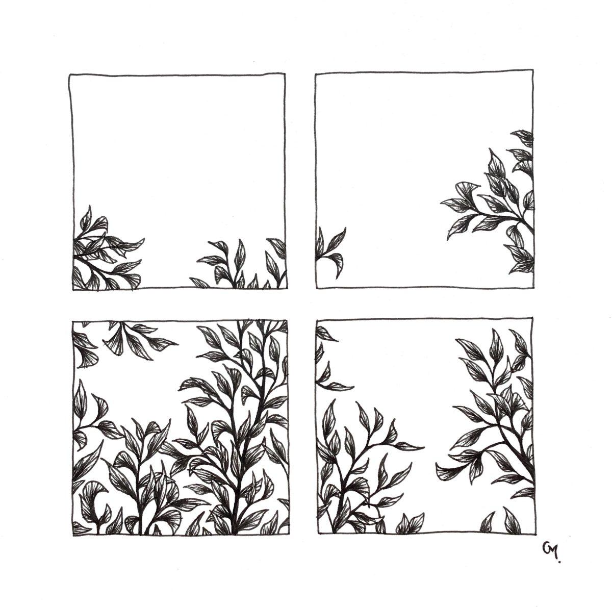 Carré floral 2
