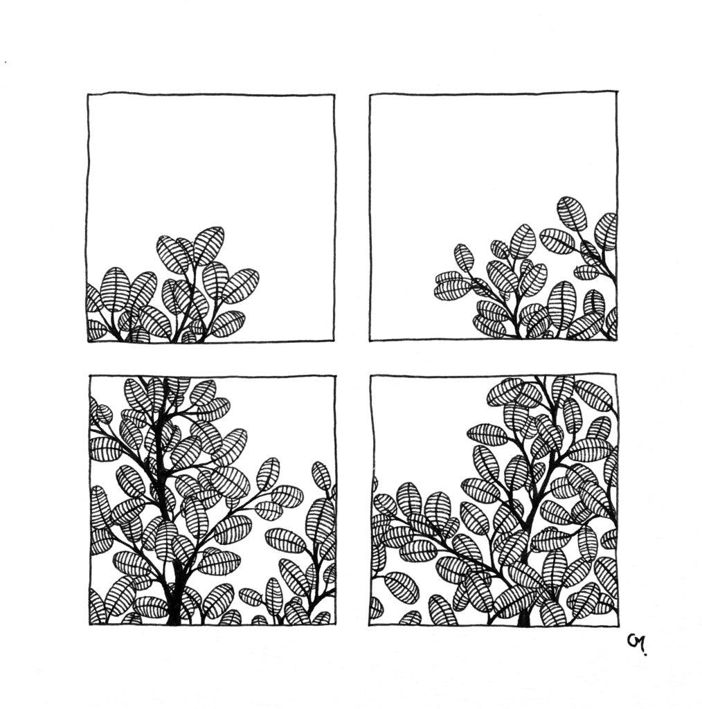 Carré floral 4