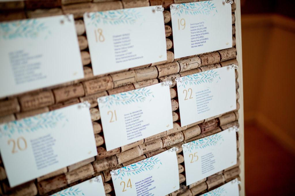 Plan de tables - graphisme mariage