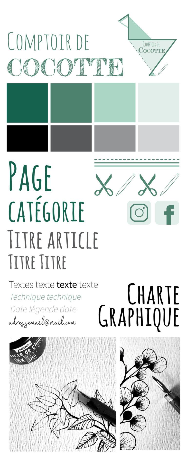 Charte Graphique Comptoir de Cocotte