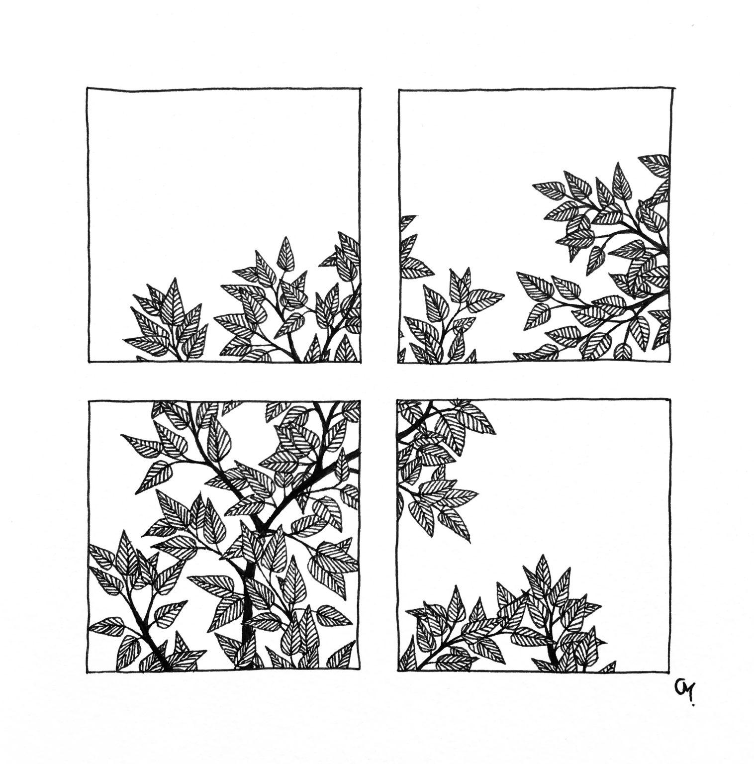 Carré floral 3