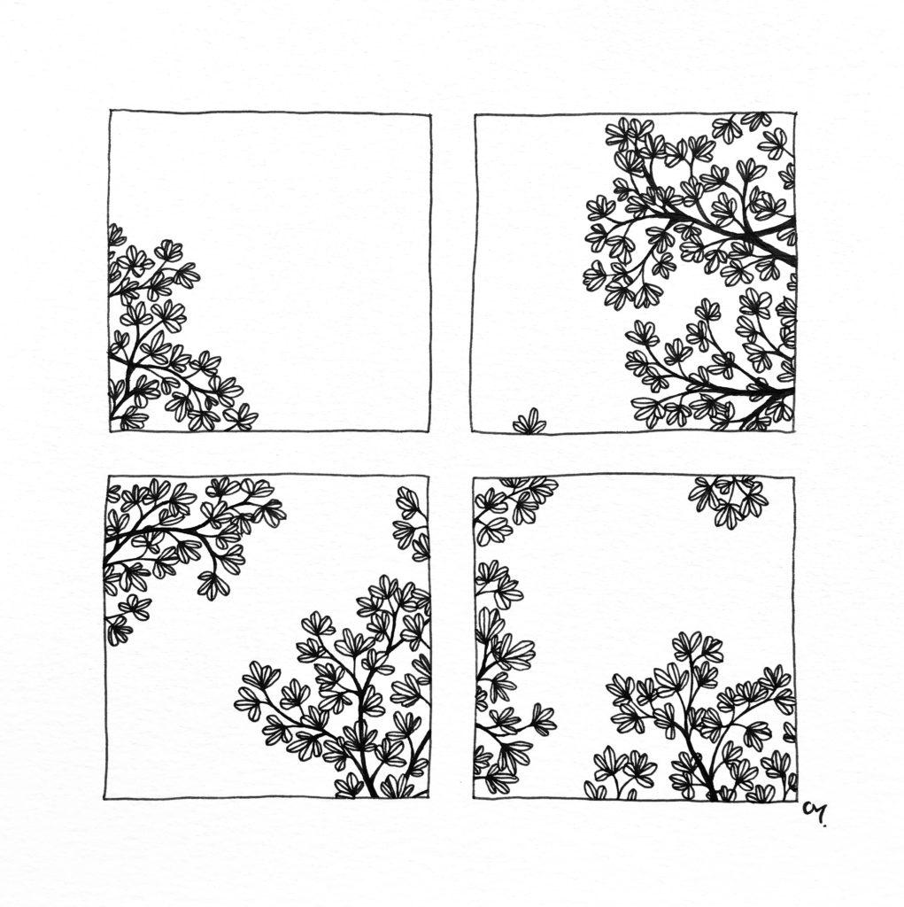 Carré floral 6